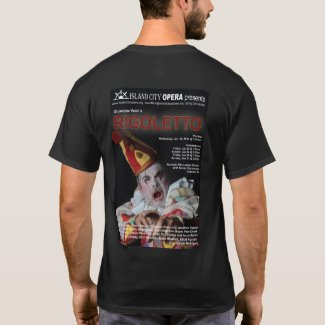Island City Opera Rigoletto men's dark tshirt