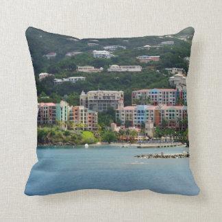 Island Color Throw Pillow