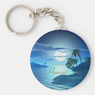 island cove-Hawaii Basic Round Button Keychain