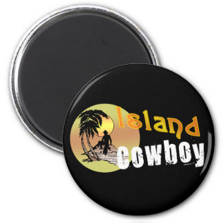 Island Cowboy Magnet