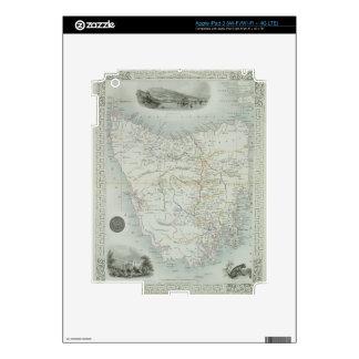 Island de Van Diemen o Tasmania, de una serie de iPad 3 Skin