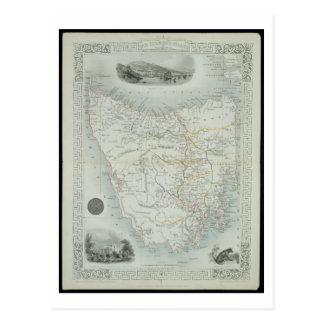 Island de Van Diemen o Tasmania, de una serie de Tarjeta Postal