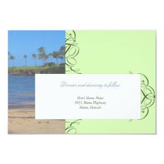 Island Destination Wedding Reception Card Custom Invitations