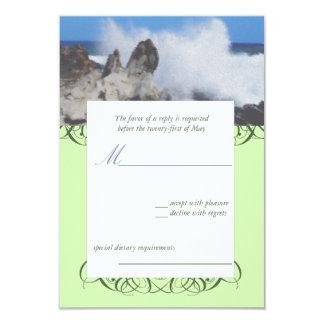 Island Destination Wedding RSVP Card Personalized Invitation