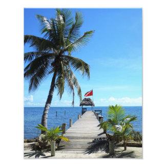 Island diving pier photo print