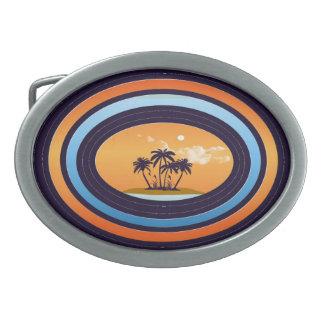 Island Dream Oval Belt Buckle