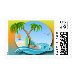 Island Dreams Postage Stamps