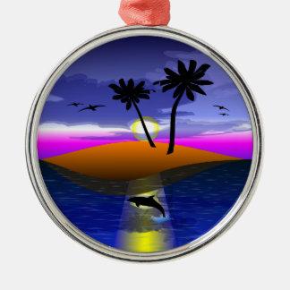"""""""Island Dreams"""" Premium Round Ornament"""