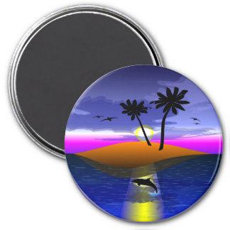 """Island Dreams"" Round Magnet"