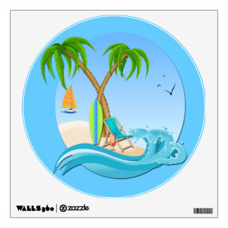 Island Dreams Round Wall Decal