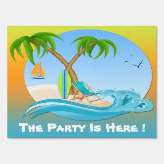 Island Dreams Summer Party Yard Sign