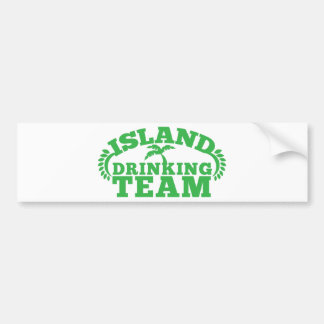Island Drinking Team with a palm tree Bumper Sticker