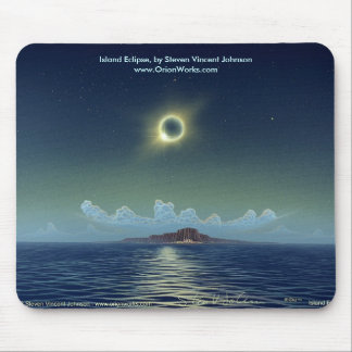 Island Eclipse, Island Eclipse, by Steven Vince... Mouse Pad
