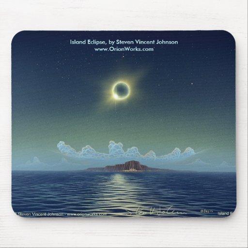 Island Eclipse, Island Eclipse, by Steven Vince... Mouse Mats