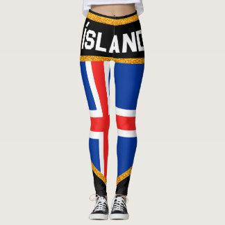 Ísland Flag Leggings