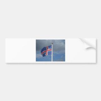 Island Flagge Autoaufkleber