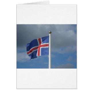 Island Flagge Karte