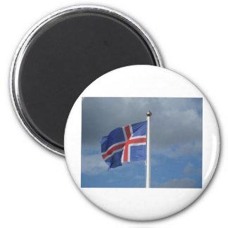 Island Flagge Kühlschrankmagnet