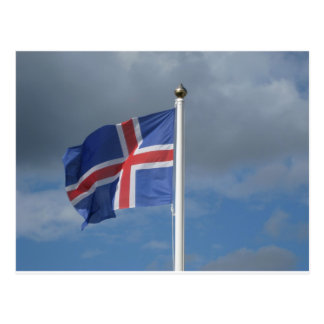 Island Flagge Postkarten