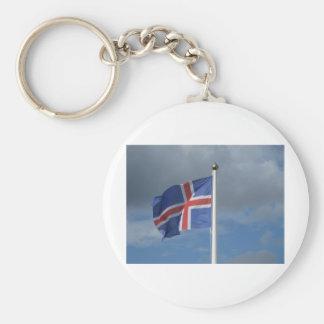 Island Flagge Schlüsselbänder