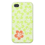 Island Floral Hawaiian Cover For iPhone 4