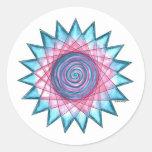 Island Flower Star Classic Round Sticker