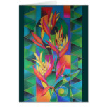 """""""ISLAND FLOWERS ~ HELICONIA"""" GREETING CARD"""