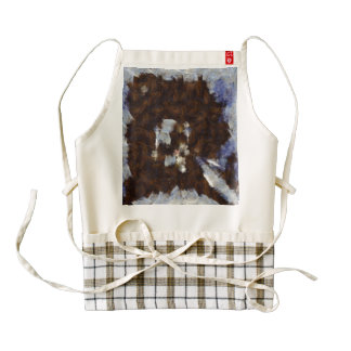 Island getting surrounded by ice zazzle HEART apron