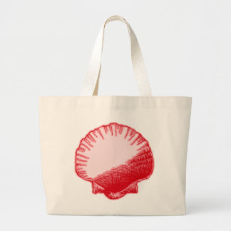 Island Ginger Red Sea Shell Canvas Bags