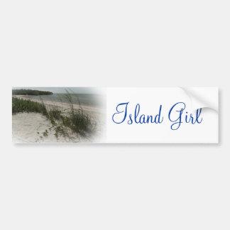 ISLAND GIRL BUMPER STICKERS