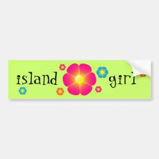 Island Girl bumper sticker