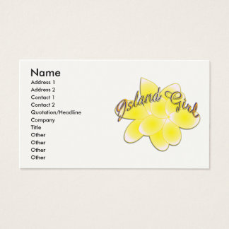 Island Girl Business Card 2