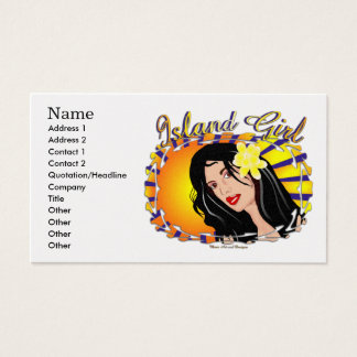 Island Girl  Business Cards