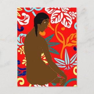 Island Girl, Gauguin Style, postcard