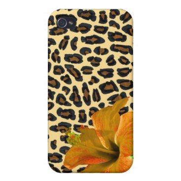 Hawaiian Themed Island Girl Leopard Cover For iPhone 4