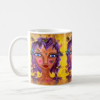 Island Girl with Butterflies on Coffee/Tea Mug