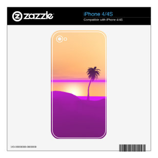 Island Gold and Purple Skin For The iPhone 4