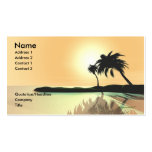 Island Gold - Business Size Business Card Templates
