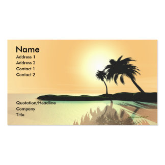 Island Gold - Business Size Double-Sided Standard Business Cards (Pack Of 100)