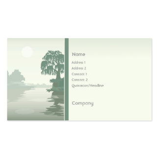 Island Green Double-Sided Standard Business Cards (Pack Of 100)