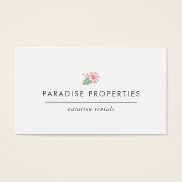 Beach Themed Island Hibiscus Business Card