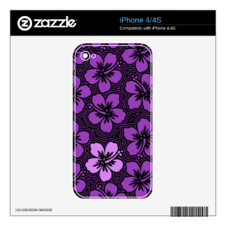 Island Hibiscus Hawaiian iPhone 4/4S Skin Decals For The iPhone 4S