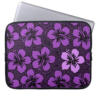 Island Hibiscus Hawaiian Neoprene Wetsuit Laptop Sleeve