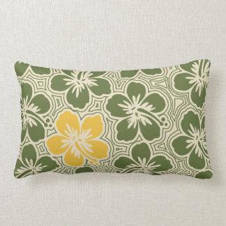 Island Hibiscus Hawaiian Reversible Lumbar Pillow