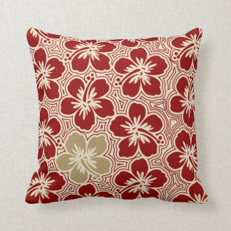 Island Hibiscus Hawaiian Reversible Square Pillow
