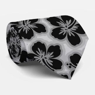 Island Hibiscus Hawaiian Tonal  Two-sidedPrinted Tie