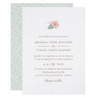 Island Hibiscus Wedding Invitation