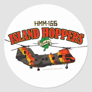 Island Hoppers Simple Design Classic Round Sticker