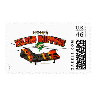 Island Hoppers Simple Design Postage Stamps
