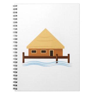 Island Hut Spiral Note Book